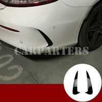 For Benz C Class Coupe C205 Black Rear Bumper Spoiler Air Vent Trim Cover 2pcs
