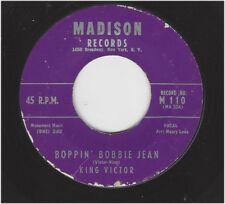 KING VICTOR  -  BOPPIN' BOBBIE JEAN / BOHEMIAN BABY  -  MADISON 110