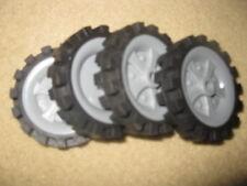 "4 K'Nex Knex Wheels 2.5"" (2)"