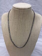 Beautiful Vtg Bali Indonesia sterling 925 Woven Chain necklace