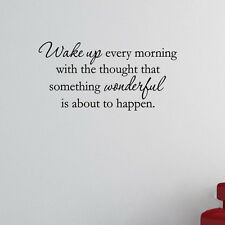 Wake Up Every Morning Inspirational Quote Wall Decal Home Wall Sticker Decor