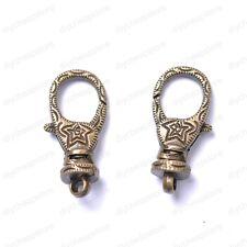 4Pcs Tibetan Silver, Golden, Bronze, Lobster Clasp & Hooks 30x12mm JK2054