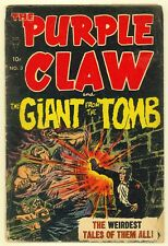 Purple Claw #3 (1953) GD (2.0) ~ Ben Brown Cover ~ Toby ~ Horror Comic