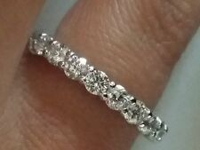 2.10 TCW Diamond Eternity Band, VS2-SI1, G-H,  Size 6, 14K White Gold
