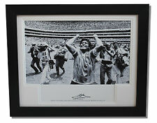 Framed Diego Maradona Argentina World Cup SIGNED Autograph Photo Mount COA Proof