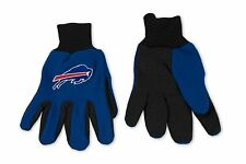 NFL Buffalo Bills Two-Tone Blue/Black Utility Gloves New Style (Pair)
