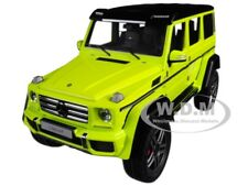 MERCEDES BENZ G500 4X4 2 ELECTRIC BEAM/ YELLOW 1/18 MODEL CAR BY AUTOART 76319