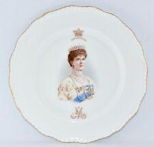 1911 Royal Doulton QUEEN MARY Coronation Plate, Scalloped Edge (21cm)