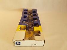 Box of 9 General Electric 914 Ge914 Miniature Wedge Base Lamps Light Bulbs
