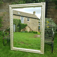 C18th Style 5' x 4' Silver Gilt Large Hall / Wall Mirror