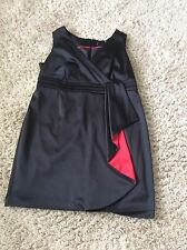 Size 22 Black/red Waterfall Cocktail  Dress By Teatro Immac Hols 25/5 To 6/6