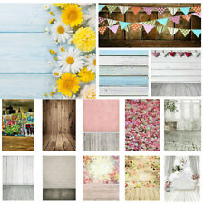 Studio Photo Photography Vinyl Backdrop Stand Background Props Flower Wooden