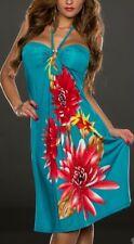 Sexy Miss Damen Neckholder Kleid Strass Dress 34/36/38 Blumen smaragd bunt TOP