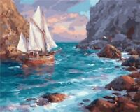 Sailing Ships 40 x 50 cm Painting By Numbers Kit On Canvas N9