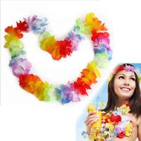 EE_ FJ- CN_ 10Pcs Hawaiian Flower Leis Garland Necklace Fancy Dress Party Beach