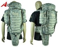 Airsoft Tactical Military Molle Full Gear Dual Rifle Gun Bag Case Backpack ACU