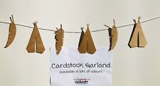PAPER CARD TRIBAL BOHO FEATHER TEEPEE TIPI GARLAND BUNTING WOODLAND KRAFT BROWN