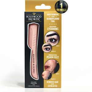Hollywood Browzer - Dermaplaning Blade For Face, Eyebrow Shaping - Rose Gold