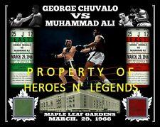 8x10 GEORGE CHUVALO MUHAMMAD ALI MARCH, 29 1966 PHOTO 2 MAPLE LEAF GARDENS SEAT