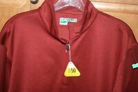 NWT Men's Large L ProTour Golf 1/4 Zip COOLPLAY Fleece Pullover Pockets