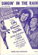 """SINGIN' IN THE RAIN Sheet Music """"Singin' In The Rain"""" Gene Kelly Debbie Reynolds"""