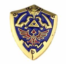 Legend of Zelda Gold HYLIANS Shield Metal Enamel Badge Pin