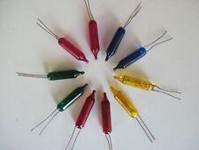 10 pisellini 24 Volt ricambio per serie catena 10 luci Natale multicolori -Nuovi