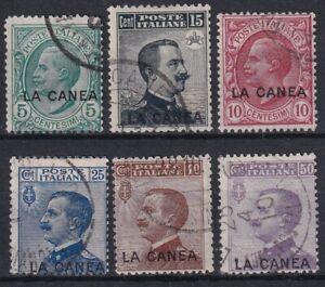 1907 LA CANEA N.14/19 SERIE CPL 6 VALORI USATO RR