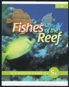 2010 AUSTRALIAN STAMP BOOKLET FISHES OF THE REEF 20 x 5c STAMPS MUH
