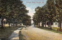 Canton Maine~Pleasant Street~Neighborhood Homes on Dirt Road~Sidewalk~c1910 PC