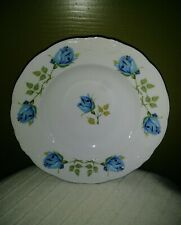 ROYAL KENT CHINA POLAND BLUE ROSES FLORAL SOUP CEREAL BOWLS MINT CONDITIONS 8""