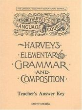 Harvey's Elementary Grammar and Composition Answer Key by Eric Wiggin (1987, Pap
