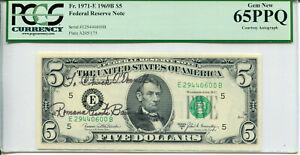 1969-B $5 FRN Courtesy Autograph Romana A Banuelos E29440600B PCGS 65PPQ