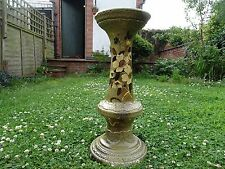 Antique Art Nouveau/Victorian jardiniere stand/base, with hand painted flowers,