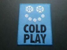 PUNK ROCK HEAVY METAL MUSIC SEW / IRON ON PATCH:- COLDPLAY