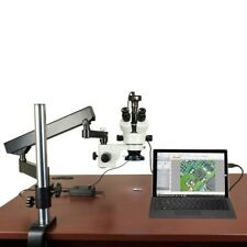 9Mp Digital Camera 3.5X-90X Zoom Articulating Arm+Post Stereo Trino- Microscope