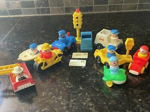 Vintage Fisher Price Vehicles lot including RARE mailbox with Mail!! + figures