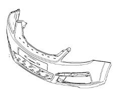 Vauxhall Parachoques delantero Panel - ORIGINAL - 13124959