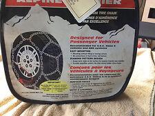 """NEW LES SCHWAB LACLEDE 1550 Alpine Premier Quick Fit Diamond 15""""/17"""" SNOW Chains"""
