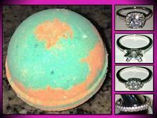Large 4.5 Oz Bombshell Bath Bomb Fizzy Bling Ring Cucumber Melon Ball Shea Oil