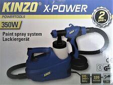Lackiergerät von KINZO® X-Power Farbpistole 350 Watt - 0,7 Ltr. Behälter 220Volt
