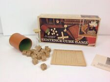 Sentence Cube by Scrabble 1971 Word Game complete with Letters cubes vintage