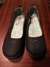 NORTHSIDE Sz 10 Black w gray stitch Mary Jane Comfort slide Shoes
