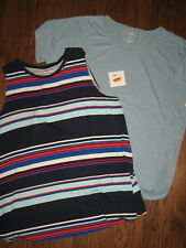 New lot womens plus size tank top 2X short sleeve Croft & Barrow Sonoma shirts