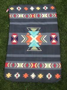 "St Labre School Southwest Fleece Blanket Throw 60"" x 38"" Native American w/Tag"
