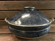 Shigaraki yaki Ceramic DONABE Japanese Navy Earthen Clay Pot Japan Steam net