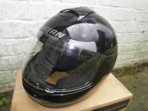 Classic NOLAN N37 Motorcycle HELMET Black Size S