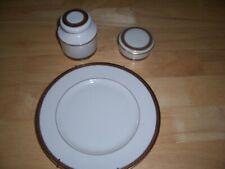 Lenox Monroe porcelain paperweight, Lidded paper clip holder and salad plate