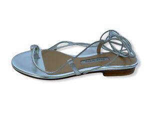 Emme Parsons Women Shoes Sandals Size 36 NIB Susan Silver Metallic Nappa