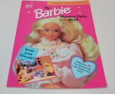 My Barbie Slumber Party Book 1997 Sticker & Activity Book Unused